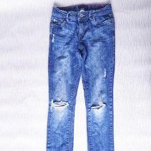 Girl's Levi Size 16 Slim Straight Jeans
